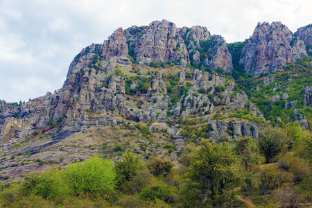 hill of tara: valley mountain landscape. Crimea Stock Photo
