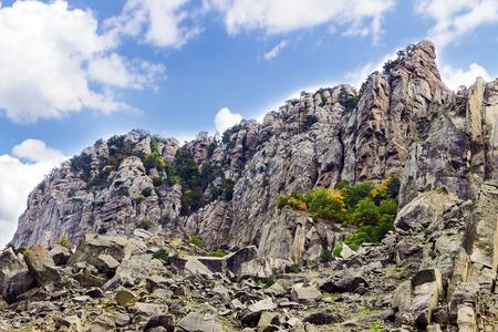 hill of tara: mountain summer landscape stone. Crimea