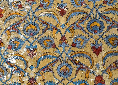 antigua grecia: Vintage ornamento patrón sin fisuras en la antigua muralla