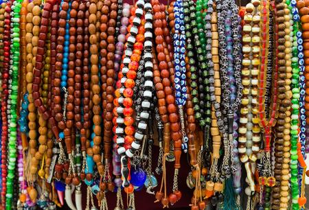 turkish rosary beads on bazaar photo
