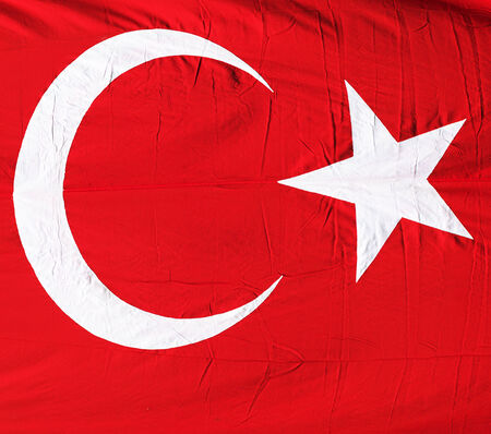 Turkish flag texture