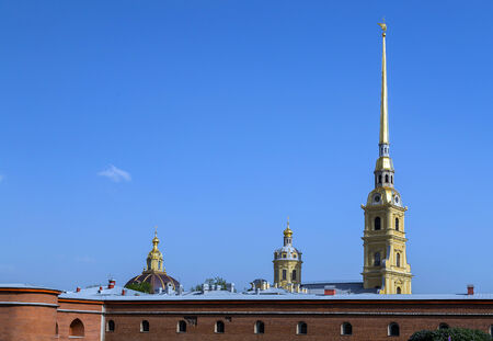 St. Peter and Pavel cathedral in the Peter and Paul Fortress in St.- Petersburg, Russia