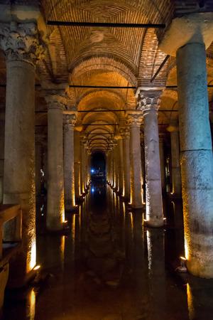 Underground Basilica Cistern, also called the Yerebatan Saray or Yerebatan Sarnici, Istanbul