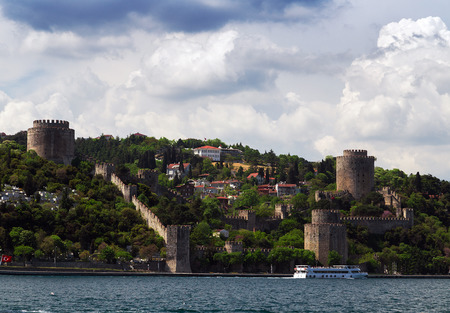 Old fortress Rumelihisari - Rumelian Castle on a hill of the Bosphorus. Editorial