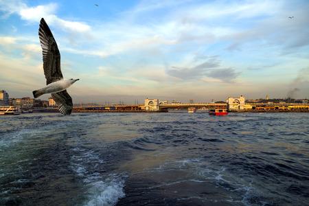 istanbul beach: Istanbul Bosporus, Turkey. Stock Photo
