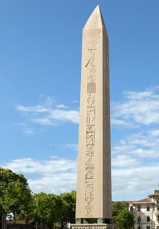 obelisk stone: Egyptian obelisk in the ancient site of the Hippodrome in Istanbul, Turkey