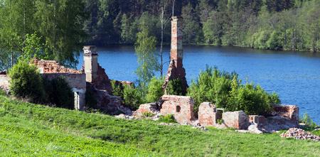Kvass brewery and pump-house in Alexandro-Svirsky Monastery. Leningrad Oblast. Russia photo