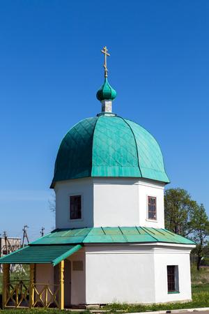 Chapel over the Well of Saint Alexander Svirsky Monastery. Leningrad Oblast. Russia photo