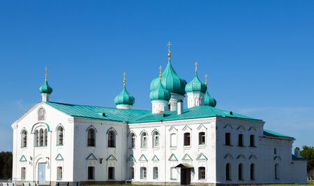 Churches of the Transfiguration and Saints Zachary and Elisabeth St. Alexander of Svir Monastery. Leningrad Oblast. Russia photo