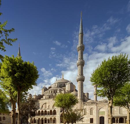 Blue mosque in Istanbul, Sultan Ahmet park. photo
