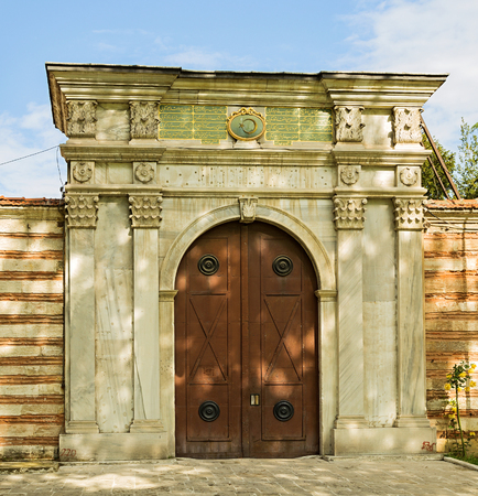 mohammedan: Gate of mosque, Istanbul, Turkey.