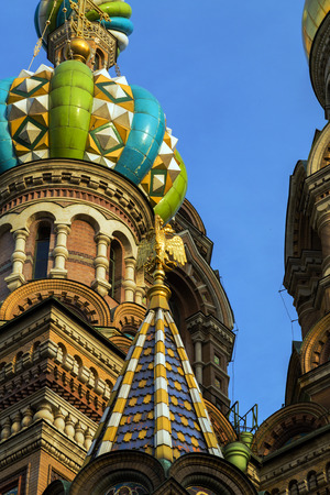church dome: exterior Church of the Resurrection of Christ, St. Petersburg, Russia