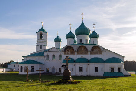 Churches of the Transfiguration and Saints Zachary and Elisabeth St. Alexander of Svir Monastery. Leningrad Oblast. Russia photo