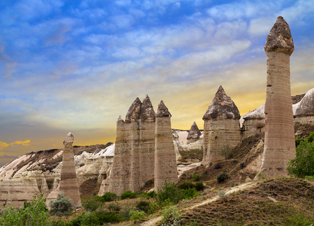 penis: Love valley in Goreme Cappadocia, Turkey Stock Photo