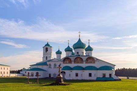 Holy Trinity St. Alexander of Svir Monastery. Leningrad. Russia photo