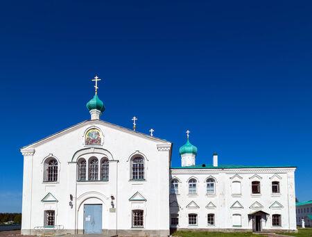 dome Churches of the St. Alexander of Svir Monastery. Leningrad Oblast. Russia photo