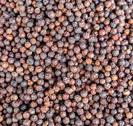 pungent: pepper black dry background - pungent aromatic spice and condiment used in cooking