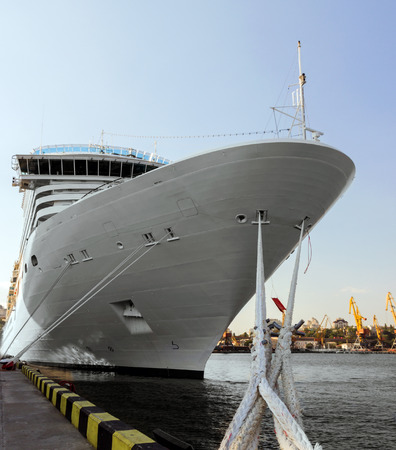 passenger ship: cruise passenger ship in port