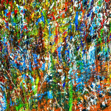 pintura abstracta: dibujo de fondo de pared paleta de la pintura al �leo de colores