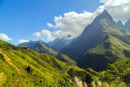 sa: Landscape of mountain Sa Pa. Lao cai province northern Vietnam Stock Photo