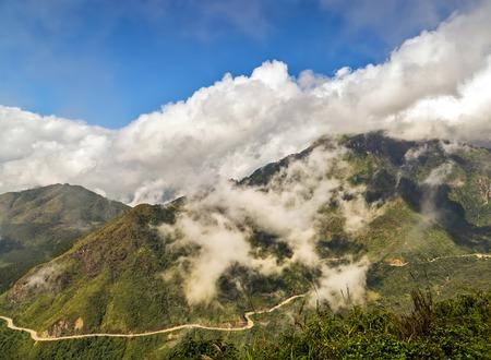pa: Landscape of mountain Sa Pa. Lao cai province northern Vietnam Stock Photo