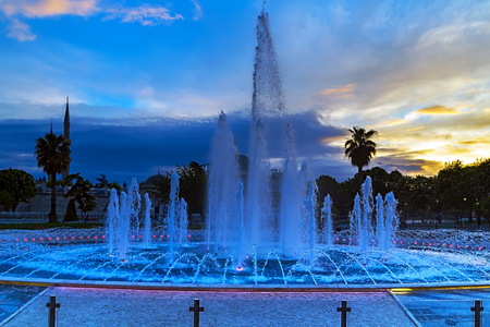 sofia: fountain in front of Hagia Sofia, Istanbul Stock Photo