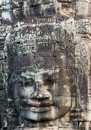 bayon: architecture Bayon Temple Angkor Thom, Cambodia. Ancient Khmer architecture.