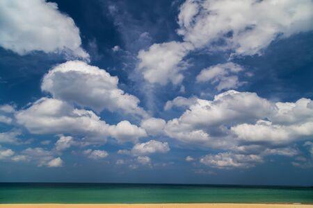 sand beach and blue sky paradise island Stock Photo
