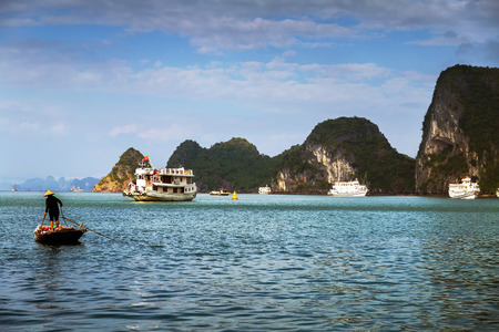 long bay: landscape Ha Long Bay, Vietnam.