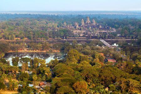 siem reap: bird view of Angkor wat, Siem Reap, Cambodia