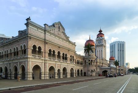 merdeka: KUALA LUMPUR, MALAYSIA - FEBRUARY 19, 2015 - View of the historic city centre in Kuala Lumpur. Sultan Abdul Samad building Merdeka Square at Kuala Lumpur, Malaysia