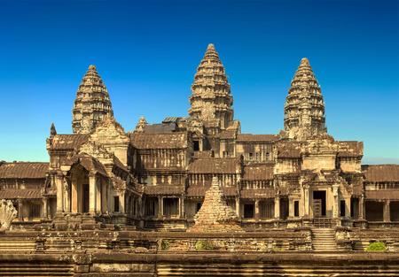Angkor Wat, een deel van de Khmer-tempelcomplex, Azië. Siem Reap, Cambodja.