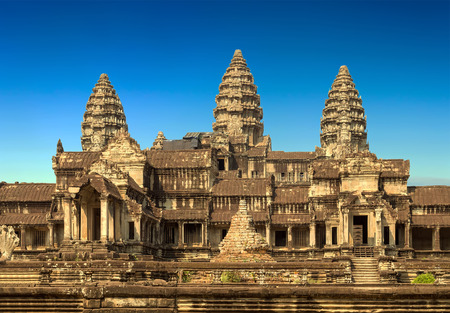 Angkor Wat, part of Khmer temple complex, Asia. Siem Reap, Cambodia.