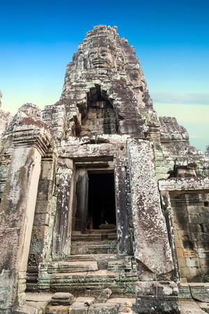thom: Bayon Temple Angkor Thom, Cambodia. Ancient Khmer architecture.
