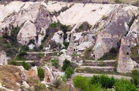 goreme: Goreme national park Mountains, rocks in Turkey Cappadocia, Anatolia Stock Photo