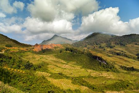 lien: Landscape Fansipan mountain, eco-tourism, Hoang Lien National Park, Lao cai province northern Vietnam Stock Photo