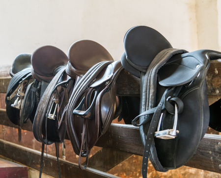 reigns: Rider Leather Saddles on fence