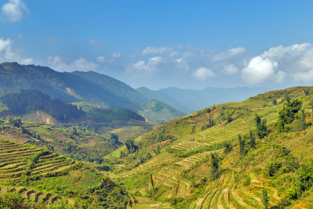 pa: Mountain Landscape Hill Sa Pa Lao Cai province, northern Vietnam Stock Photo