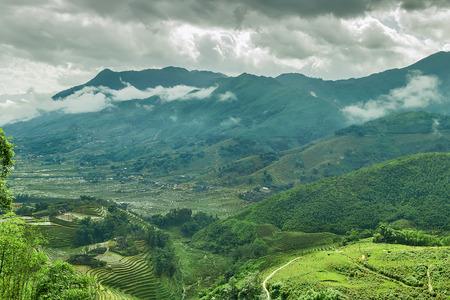 lien: Landscape mountain, eco-tourism, Hoang Lien National Park, Lao cai province northern Vietnam