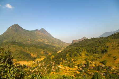 green Landscape Fansipan mountain, eco-tourism, Hoang Lien National Park, Lao cai province northern Vietnam