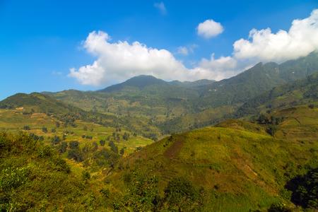 lien: Landscape mountain eco-tourism, Hoang Lien National Park, Lao cai province northern Vietnam Stock Photo