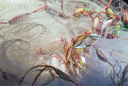 trawler net: fishing net background