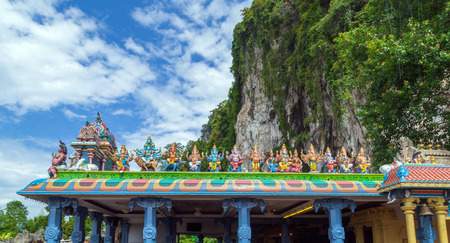 batu: The statue of Ganesh Temple Dome Detail at Batu Caves in Malaysia Stock Photo
