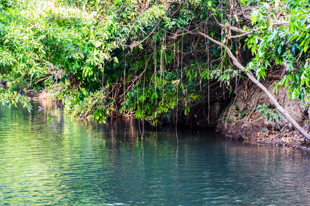 klong: Waterfal Hot Spring river in the south of Krabi province in Klong Thom