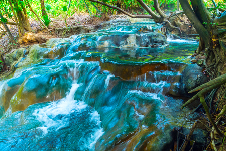 klong: Waterfal Hot Spring in the south of Krabi province in Klong Thom