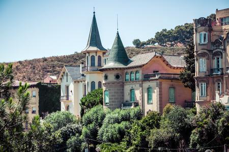 barcelone: architectures à Barcelone, Espagne. rétro style vintage