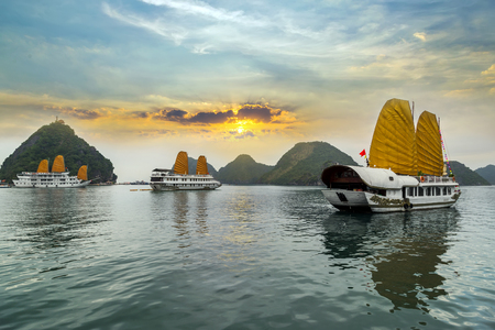 vietnam: Ha Long Bay, Vietnam. Unesco World Most popular place.