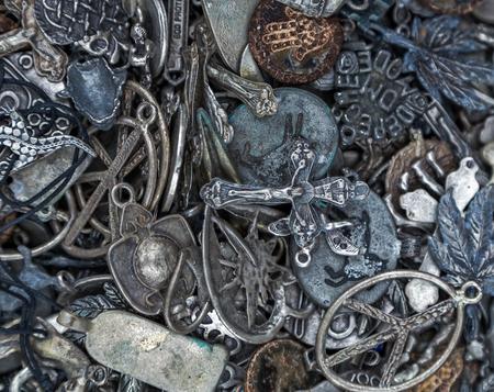 knack: amulets background Stock Photo