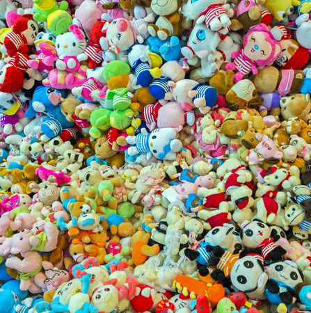 Stuffed animal toys background