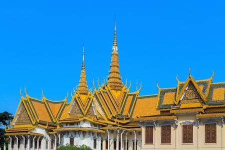penh: Royal Palace exterior famous in Phnom Penh, Cambodia